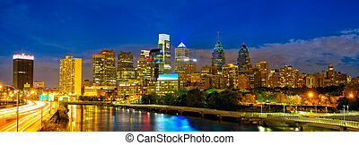 Philadelphia downtown - Skyline of Philadelphia downtown at...