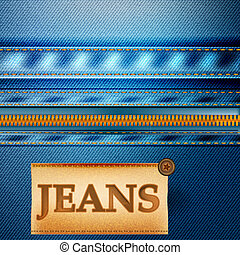 Fashion vector background with jeans fabric texture