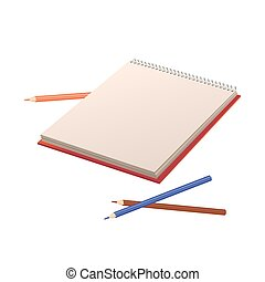 Vector illustration of notebook