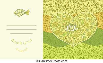 Template design for card. - Cute design for greeting card...