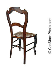 Antique wooden chair - 34 back view - Antique wooden chair...