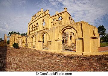 Abandoned Kellies Castle in Batu Gajah, Malaysia