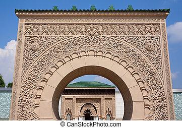 arkitektur, marockansk