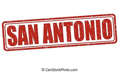 San Antonio stamp - San Antonio grunge rubber stamp on white...