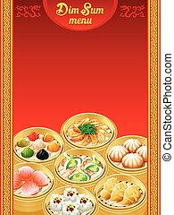 Dim Sum dumplings menu - Template for chinese Dim Sum...