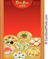 Dim Sum dumplings menu - Template for chinese Dim Sum...