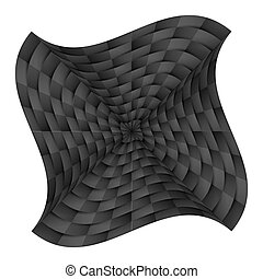Curved chequered background - Abstract curved chequered...