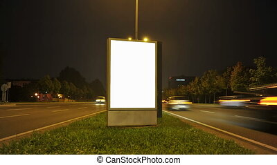 City Light Poster Mock Up Easy place your poster design on...
