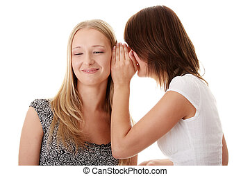 Woman gossiping