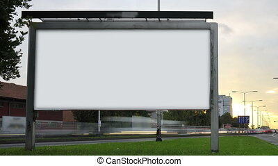 Billboard on highway by day. - Billboard on highway by day...