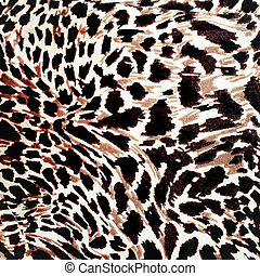 Modern stylish texture The tiger cotton chintz