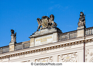Historical building in Dresden - Detail of a historical...