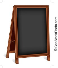 Sign Folding Wood Chalk board Easel - Sidewalk chalk board...