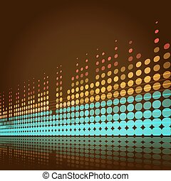 musical lights background - musical background with lines in...