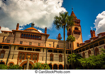 Ponce de Leon Hall, at Flagler College in St Augustine,...