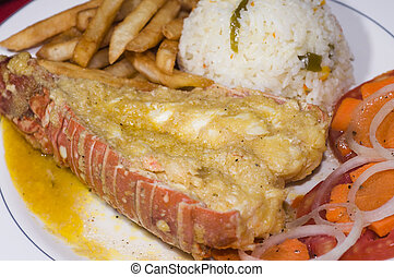 caribbean style lobster tail dinner plate