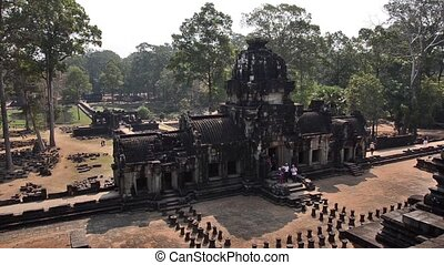 famous khmer temple, cambodia - ancient temple, angkor wat,...
