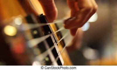 Playing Guitar Close-up (No-audio)