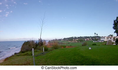 Algarve-Golf Pan Timelapse - Algarve golf course scenery...