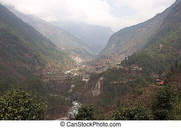 Dudh Kosi river valley, Himalayas, Nepal