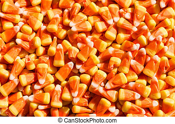 Candy corn, a traditional Halloween treat