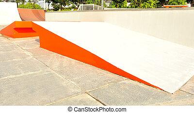 modern skate park