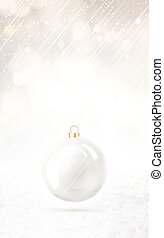 Holliday ball. - Toy ball for holiday fir-tree over vertical...