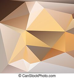 Orange and beige abstract polygonal background. Vector...