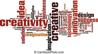Creativity word cloud concept Vector illustration