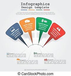 Modern arrow infographics element layout. Vector...