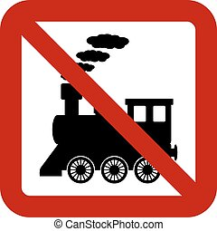 No locomotive sign on white background Vector illustration