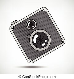 Hipster Retro Photo Camera - Hipster Retro Style Photo...