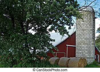Barn Bales - Hay bales in barnyard