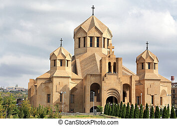 Orthodox temple - Front view of the orthodoxal cathedral...