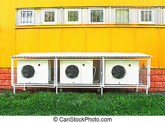Ventilation device - Ventilation equipment at the yellow...