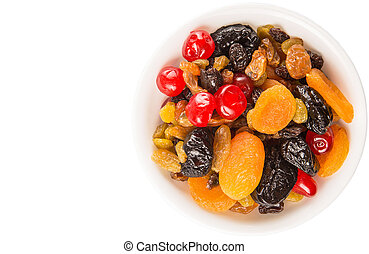Mix Variety Of Dried Fruit - Mix variety of dried fruit in...