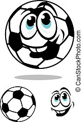 Cartoon soccer or football ball charcter