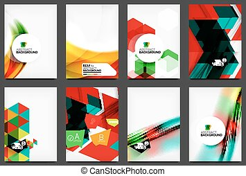 Set of modern flyers, brochures. Abstract backgrounds,...