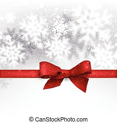 Christmas background with fallen snowflakes - Winter silver...