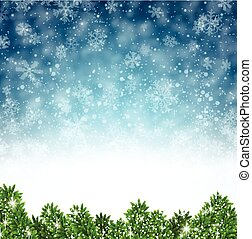 Winter abstract background. Christmas illustration with...