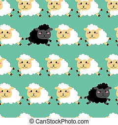 Black And White Sheep Pattern