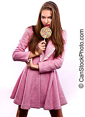 beautiful woman with lollipop - beautiful woman with candy...