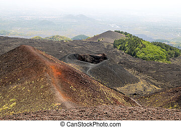 Etna - The largest active volcano in Evprope - Etna (Sicily,...