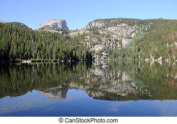 Bear Lake, Rocky Mountain National Park, Estes Park,...