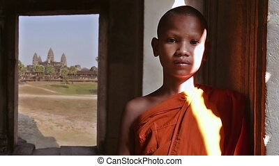 khmer monk portrait