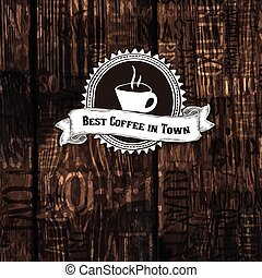 Best Coffee In Town Poster. Vector