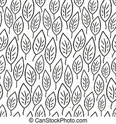 Seamless leaves pattern. Vector