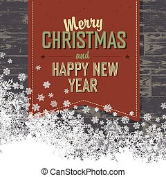 Merry Christmas Card With Isolated Space For Text.Vector
