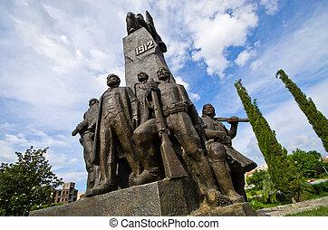 pomnik, Od, niezależność, w, Vlore, Albania,