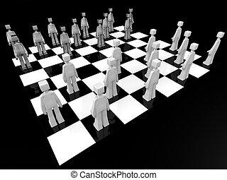 Checker board game concept